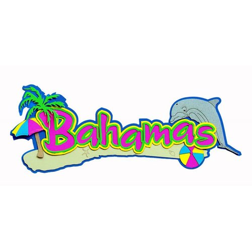 Paper Wizard - Island Paradise Collection - Die Cuts - Bahamas Title