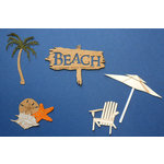 Paper Wizard - Die Cuts - Beach Minis