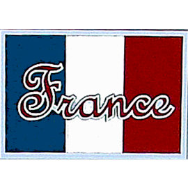 Paper Wizard - Die Cuts - France Flag, CLEARANCE
