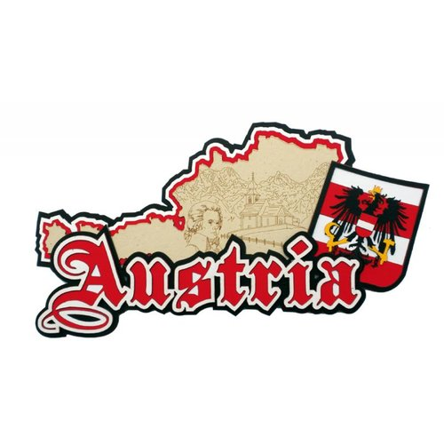 Paper Wizard - Country Maps Collection - Die Cuts - Map of Austria