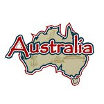 Paper Wizard - Country Maps Collection - Die Cuts - Map of Australia with Flag