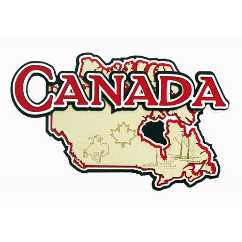 Paper Wizard - Country Maps Collection - Die Cuts - Map of Canada
