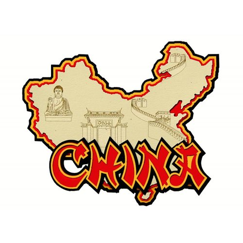 Paper Wizard - Country Maps Collection - Die Cuts - Map of China