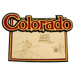 Paper Wizard - Altered States Collection - Die Cuts - Map of Colorado