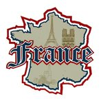 Paper Wizard - Die Cuts - France Triple Layer Map