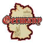 Paper Wizard - Country Maps Collection - Die Cuts - Map of Germany