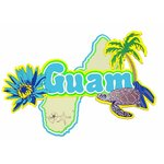 Paper Wizard - Country Maps Collection - Die Cuts - Map of Guam