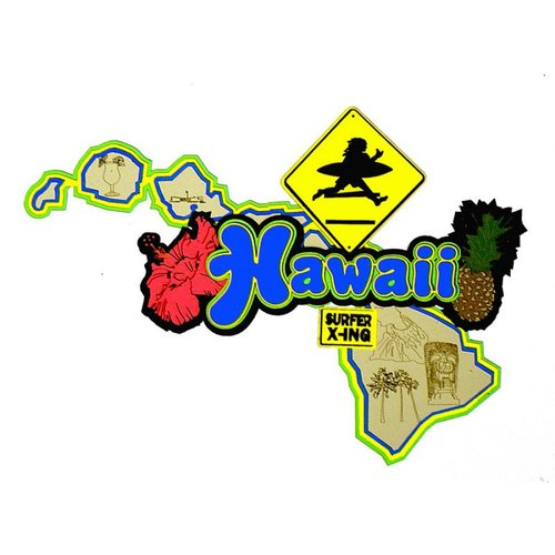 Paper Wizard - Altered States Collection - Die Cuts - Map of Hawaii