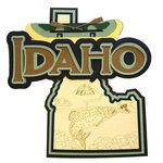 Paper Wizard - Altered States Collection - Die Cuts - Map of Idaho