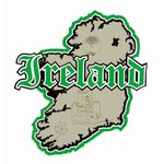Paper Wizard - Country Maps Collection - Die Cuts - Map of Ireland