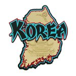 Paper Wizard - Country Maps Collection - Die Cuts - Map of Korea