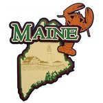 Paper Wizard - Altered States Collection - Die Cuts - Map of Maine