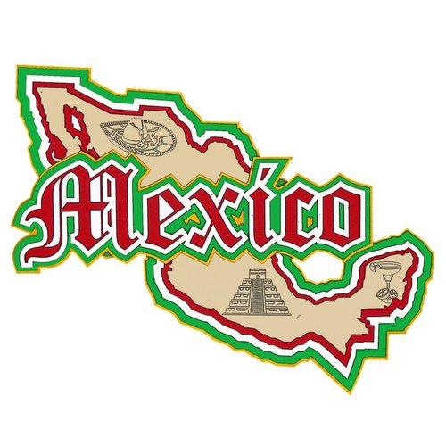 Paper Wizard - Country Maps Collection - Die Cuts - Map of Mexico