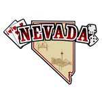 Paper Wizard - Altered States Collection - Die Cuts - Map of Nevada