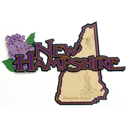 Paper Wizard - Altered States Collection - Die Cuts - Map of New Hampshire
