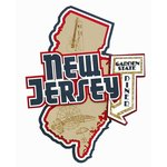 Paper Wizard - Altered States Collection - Die Cuts - Map of New Jersey