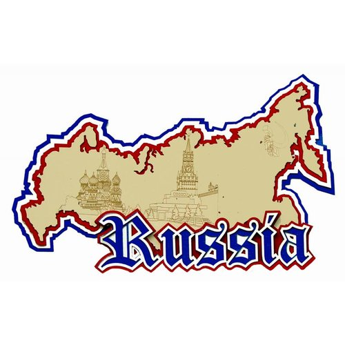Paper Wizard - Country Maps Collection - Die Cuts - Map of Russia