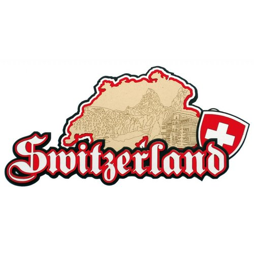 Paper Wizard - Country Maps Collection - Die Cuts - Map of Switzerland