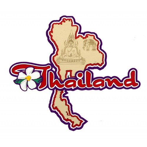 Paper Wizard - Country Maps Collection - Die Cuts - Map of Thailand