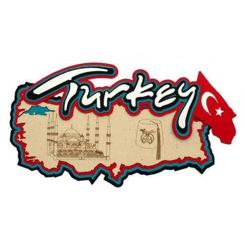 Paper Wizard - Country Maps Collection - Die Cuts - Map of Turkey