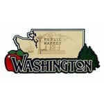 Paper Wizard - Altered States Collection - Die Cuts - Map of Washington State