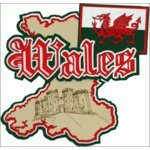 Paper Wizard - Country Maps Collection - Die Cuts - Map of Wales