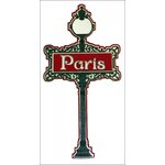 Paper Wizard - Die Cuts - Paris Street Sign