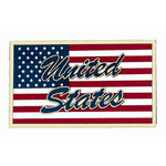 Paper Wizard - Die Cuts - United States Flag - Gold, CLEARANCE