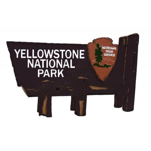 Paper Wizard - National Parks Collection - Die Cuts - Yellowstone Sign