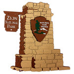 Paper Wizard - National Parks Collection - Die Cuts - Zion National Park Sign