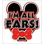 Paper Wizard - Disney - Die Cuts - I'm All Ears - Red