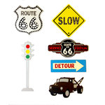 Paper Wizard - Theme Park Collection - Die Cuts - Cars Signs Minis