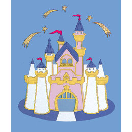 Paper Wizard - Disney - Die Cuts - Golden Castle 1, CLEARANCE