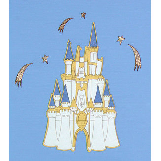 Paper Wizard - Disney - Die Cuts - Golden Castle 2 - Ivory, CLEARANCE