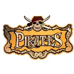 Paper Wizard - Pirates Collection - Die Cuts - Pirate Sign - Gold