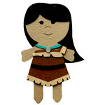 Paper Wizard - Petite Princess Collection - Die Cuts - Indian Princess
