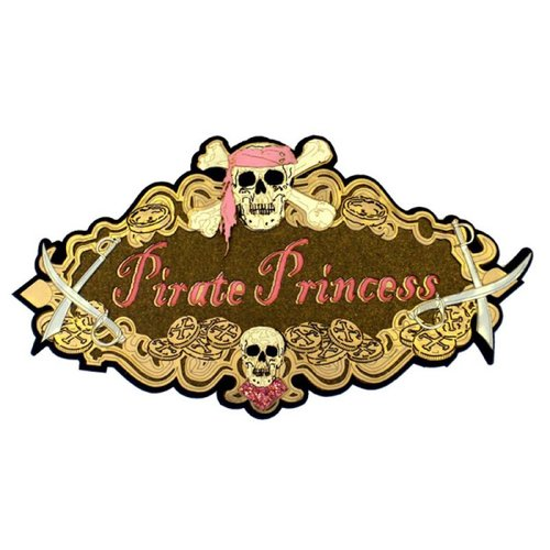 Paper Wizard - Pirates Collection - Die Cuts - Pirate Princess Sign