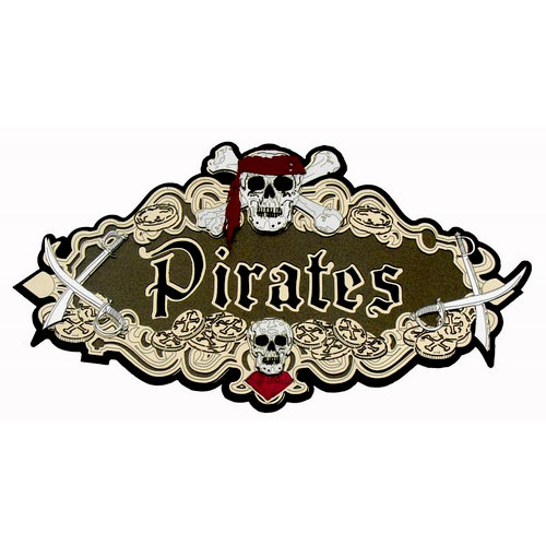 Paper Wizard - Pirates Collection - Die Cuts - Pirates Sign