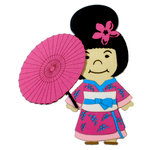 Paper Wizard - Petite Princess Collection - Die Cuts - Small World People - Japan Girl