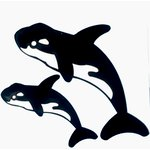 Paper Wizard - Theme Park Fun Collection - Die Cuts - Killer Whales