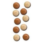 Queen and Company - Basic Brads - Round - 5mm - Browns, CLEARANCE