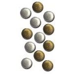 Queen and Company - Basic Brads - Round - 5mm - Silver and Gold