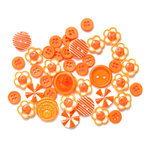 Queen and Company - Button Bouquet - Orange