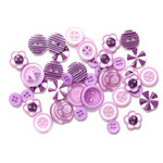 Queen and Company - Button Bouquet - Purple