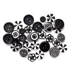 Queen and Company - Button Bouquet - Black