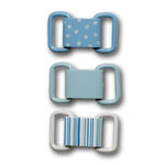 Queen and Company - Ribbon Buckles - Baby Blue, CLEARANCE