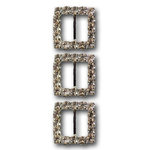 Queen and Company - Bling - Jeweled Ribbon Buckles - Sparkle Square