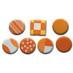 Queen and Company - Color Block Brads - Oranges, CLEARANCE