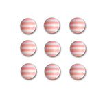 Queen and Company - Candy Shoppe Collection - Self Adhesive Candy Stripers - Round - Cotton Candy