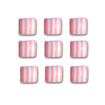 Queen and Company - Candy Shoppe Collection - Self Adhesive Candy Stripers - Square - Cotton Candy
